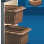cestas de mimbre con guias madera