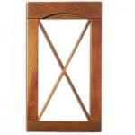 vitrina madera con palilleria en cruz